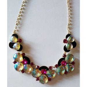 Betsey Johnson Multi Gemstone Necklace Choker